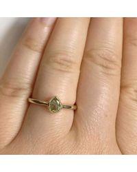 Custom Made By Irina - Metallic Pear Shape Salt And Pepper Ring - Lyst