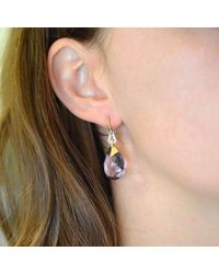 BethCarina - Multicolor Lavender Goddess Earrings - Lyst