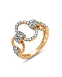 DILAMANI - Metallic Diamond Oval Link Ring - Lyst