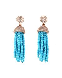 Cosanuova - Blue Turquoise Tassel Earrings - Lyst