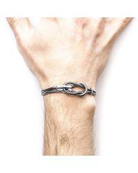 Anchor & Crew - Metallic Padstow Silver Chain Bracelet for Men - Lyst
