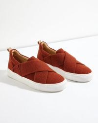 Jigsaw - Red Olivia Felted Wool Trainer - Lyst