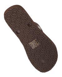 Tory Burch - Brown Tabora Rubber Flip-Flops - Lyst