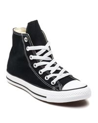 86833df6132e95 Lyst - Converse Chuck Taylor All Star Hi Canvas Sneakers Black in ...