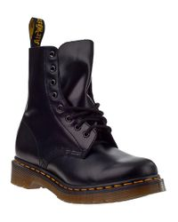 Dr. Martens   Pascal 8-eye Boot Black Leather   Lyst