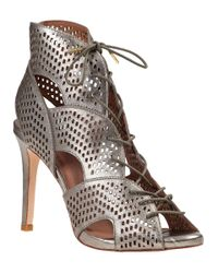 Joie | Metallic Elvie Ankle Boot Pewter Leather | Lyst