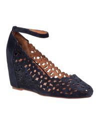 Jeffrey Campbell | Blue Delaisy Wedge Pump Navy Suede | Lyst