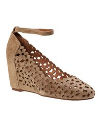 Jeffrey Campbell | Brown Delaisy Wedge Pump Taupe Suede | Lyst