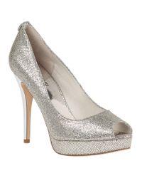 MICHAEL Michael Kors | Metallic York Platform Silver Glitter | Lyst