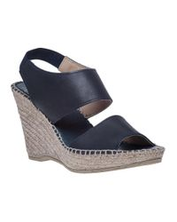 Andre Assous | Blue Reese Navy Leather Rope Covered Wedge | Lyst