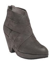 Eileen Fisher | Gray Dream Bootie Graphite Nubuck | Lyst