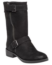 Eileen Fisher | Black List Tumbled Nubuck Ankle Boots | Lyst