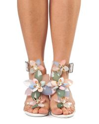 Jeffrey Campbell | Multicolor Viola Clear Embellished Sandal | Lyst