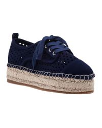J/Slides | Blue Rileyy Navy Suede Lace Up Espadrille | Lyst