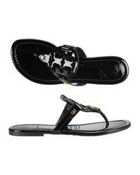 Tory Burch - Miller Thong Sandal Black Patent - Lyst
