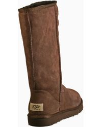Ugg - Classic Tall Boot Chocolate Brown Suede - Lyst
