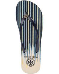 Tory Burch - Blue Thin Flip Flop Navy Cascade - Lyst