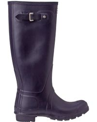 Hunter - Original Wellington Rain Boot Purple - Lyst