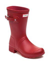 Hunter - Original Tour Short Military Red Rubber Rain Boot - Lyst