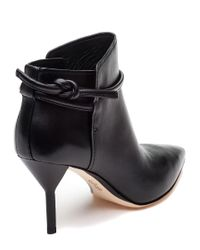 3.1 Phillip Lim - Martini Black Leather Bootie - Lyst