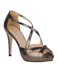 Kate Spade | Metallic Get Evening Pump Pewter Leather | Lyst