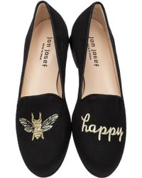 Jon Josef - Black Bee Happy Smoking Loafers - Lyst