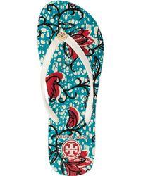 Tory Burch - Multicolor Thin Flip Flop Batik Floral - Lyst