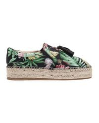 J/Slides - Rosa Black Multi Fabric Espadrille - Lyst