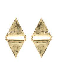 Jill Golden | Metallic Triangle Bead Earring | Lyst