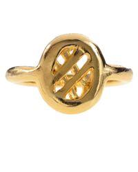 Jill Golden   Metallic Midi Lattice Ring   Lyst