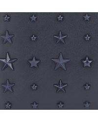 Jimmy Choo - Blue Albany Navy Leather Bi-fold Wallet With Mixed Stars for Men - Lyst