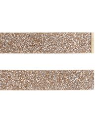 Jimmy Choo - Natural Brenda Nude Shadow Coarse Glitter Fabric Waist Belt - Lyst