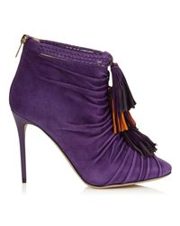 Jimmy Choo | Purple Kassidy Cutout Ankle Boots | Lyst