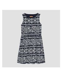 Joe Fresh - Blue Print Sleeveless Dress - Lyst