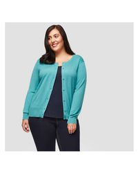Joe Fresh - Blue Women+ Essential Cardigan - Lyst