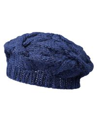 Joe Fresh | Blue Cable Knit Beret | Lyst