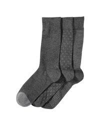 Joe Fresh | Gray Men's 3 Pack Casual Socks for Men | Lyst