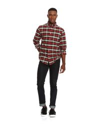 Joe Fresh - Red Men's Plaid Oxford Shirt for Men - Lyst
