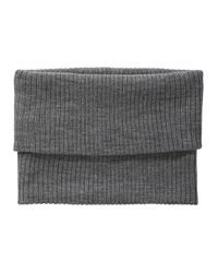 Joe Fresh - Gray Ribbed Circle Scarf - Lyst