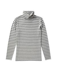 Joe Fresh - Gray Stripe Light Turtleneck - Lyst