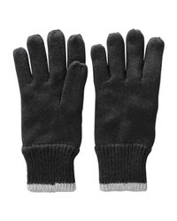 Joe Fresh | Black Rib Knit Gloves for Men | Lyst