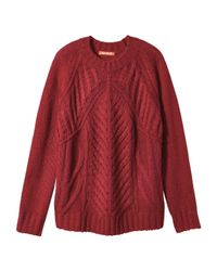Joe Fresh - Red Cable Knit Sweater - Lyst