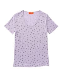 Joe Fresh - Purple Print Linen Tee - Lyst
