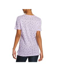 Joe Fresh - Purple Print Linen Tee - Lyst