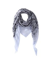 Joe Fresh - Blue Floral Print Scarf - Lyst