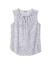 Joe Fresh - White Paisley Silk Tank - Lyst