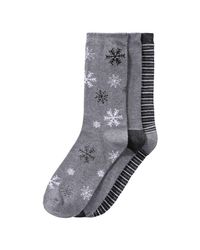 Joe Fresh | Gray 3 Pack Print Socks for Men | Lyst