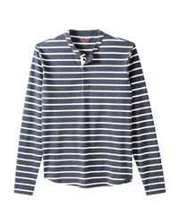 Joe Fresh - Blue Men's Stripe Henley Tee for Men - Lyst