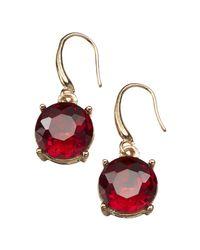 Joe Fresh - Red Stone Drop Earrings - Lyst