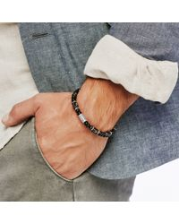 John Hardy | Multicolor Classic Chain Bead Bracelet With Snowflake Obsidian for Men | Lyst